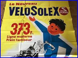 1 X AFFICHE VELOSOLEX DOUBLE PANNEAU. FORMAT 230 x 160, RENE RAVO