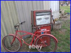 1 ancien VÉLO INDIAN SELLE CUIR, moto, vintage, garage, deco indus, no émaillée
