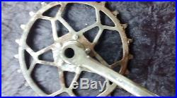 1 ancien pédalier vélo a dents sautée 1900, usine, vintage, no copie, no émaillé