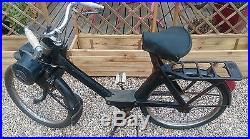 1 ancien solex 3800 noir complet, loft, usine, vintage, industriel, scooter, moto
