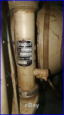 125 PEUGEOT type 55 CLT 1952 en état d'origine barn find livrable