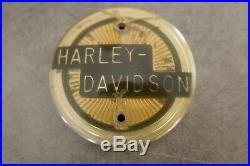 1958 HARLEY DAVIDSON XLH Sportster Duo Glide Hydra tank emblem 61773-58 not NOS