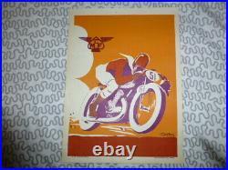 Affiche moto club de france géo ham