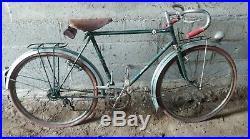 Ancien VÉLO COURSE AUTOMOTO courreur 1945, scooter, moto, cyclo, bicyclette