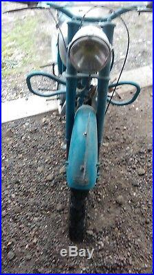 Ancienne MOTO PEUGEOT 125 TC4 1954 C. G, vintage, scooter, no émaillée