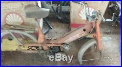 Ancienne MOTOBECANE MOBYMATIC 40 t 1970 orange, scooter, moto, cyclo, no émaillé