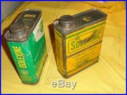 Anciens bidons de solexine jaune + vert, energol, solex 45cc, 330,660,1010