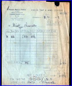 CLERMONT-FERRAND (63) ACCESSOIRES de VELOS & MOTOS VELOM MOTO PIECES en 1959