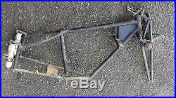 Cadre complet avec fourche parallelogramme et amortisseurs motobecane 125 D45