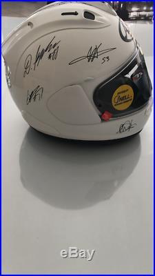 Casque de collection ou utilisable Signé par des pilotes moto GP