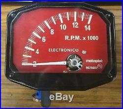 Compte-tours Motoplat Rouge 14000 RPM 2 Temps Drehzahlmesser Krober Style
