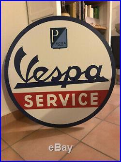 Enseigne Aluminium Acma Vespa Service 80 cm Recto Verso