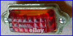 Feu arrière AUTEROCHE verre rouge MAD Vespa Acma 1951 1952 1953 1954 tail lamp
