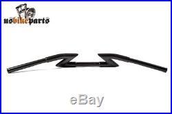 Guidon-Z noir épaisseur extra de 3,3 cm pour Harley Davidson et Cusom Bikes