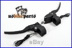 KIT COMMANDES GUIDON noire Harley Davidson et Custom
