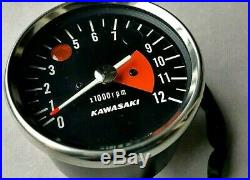 Kawasaki NEUF 500 H1 mach III 1969 à 1971 compte-tours original parfait état