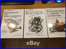 La Restauration des motos anciennes auteur Jean-yves Fenautrigues 3 Tomes