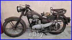 Monet goyon 125 S6V 1952 sortie de grange moto collection barn find carte grise