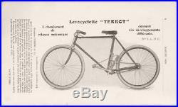 Moyeu Terrot levocyclette 10 vitesses 1906 à leviers velo ancien