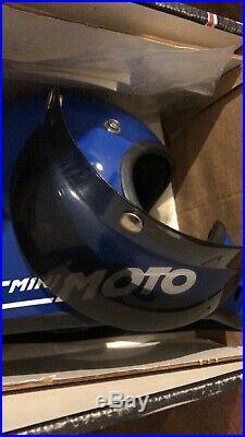 NOS original Bell mini moto blue motorcycle size 52