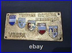 PLACCA VESPA CLUB TROPHEE NATIONAL BRABANCON belgique TIENEN WAVRE BRUXELLES