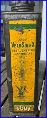 RARE 45cc solexine blik bidon can lata solex Velosolex oto orbea vintage 100%