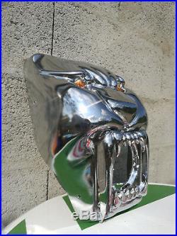 RARE tete de fourche accessoire d'epoque tete lion PEUGEOT 103 chopper mobylette