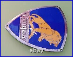 Rare Ecusson Emaillé (Calandre Scooter PEUGEOT) Mascotte Emblème Insigne S55 S57