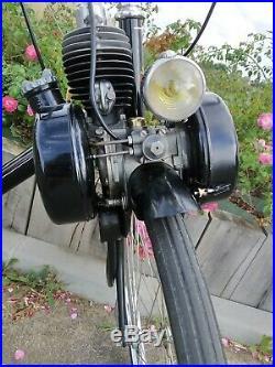 Solex 45 cc vélosolex roues de 650 chapeaux de gendarmes refait