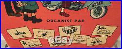 Tintin Vespa Acma 1954 Panneau Aluminium 70x100 cm
