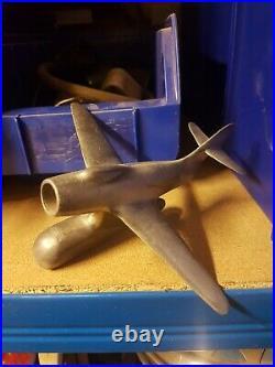 Très rare accessoire avion de chasse aluminium Vespa acma Ulma 1956 Ardor