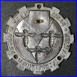 Vespa Plakette Meeting International Vespa Paris 1952 Enamel Badge Acma